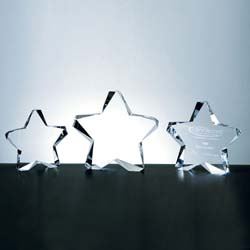Twinkle Crystal Star Award | Personalized Corporate Gifts - UltimateCrystalAwards.com